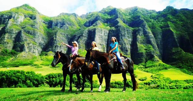 檀香山  自由行:【夏威夷自由行经典】古兰尼牧场神奇体验一日游:九种套餐组合自由选择、骑马套餐、牧场越野、夏威夷神秘岛体验、山谷飞跃索道等应有尽有、众多大片拍摄地、含接送服务及午餐-1